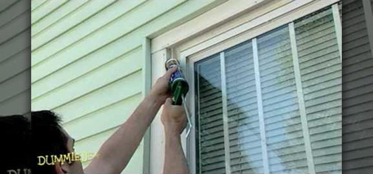 how to caulk a home window construction repair