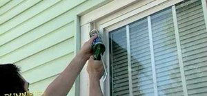 Caulk a home window