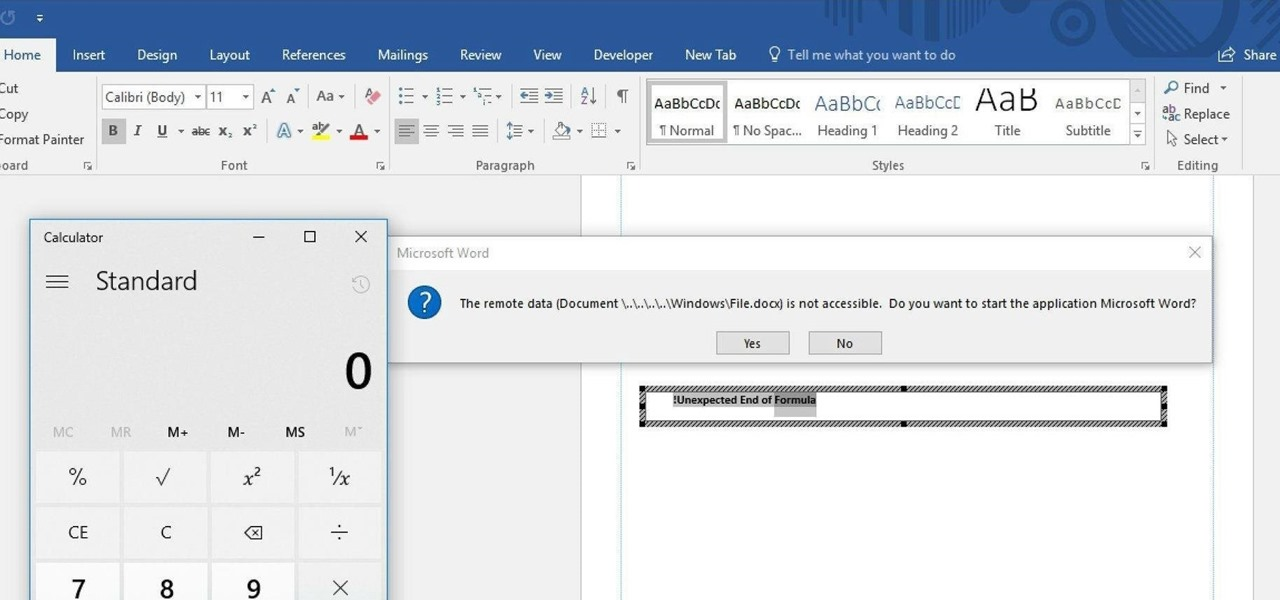 Hide DDE-Based Attacks in MS Word