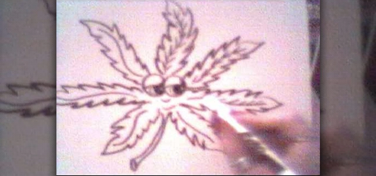 How To Draw A Pot Leaf Cartoon Character Drawing Illustration Wonderhowto
