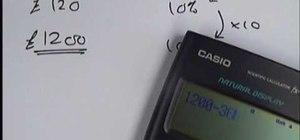 Solve reverse percentage problems