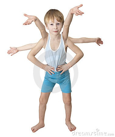 Stock Photo Challenge: Kid with 6 Arms