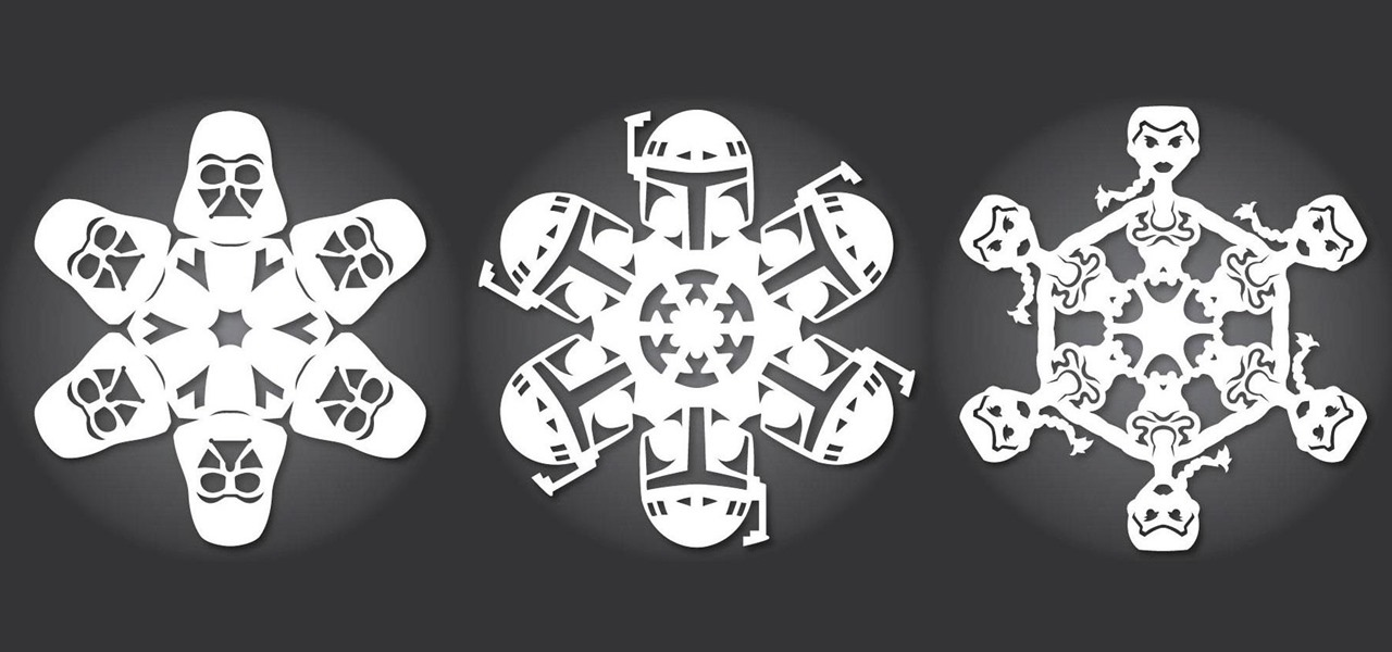 Have a Nerdtastic Holiday with 13 More Star Wars Paper Snowflake Templates