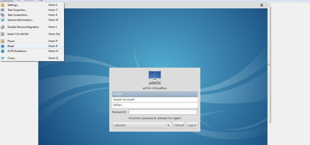 Regain Access to Lubuntu After Loss of Password (Windows 7)
