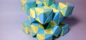 Create a 3D origami moving cube with Jo Nakashima