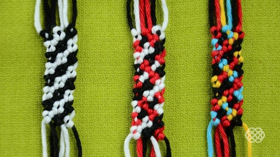 How to Make a Rag Rug Friendship Bracelet