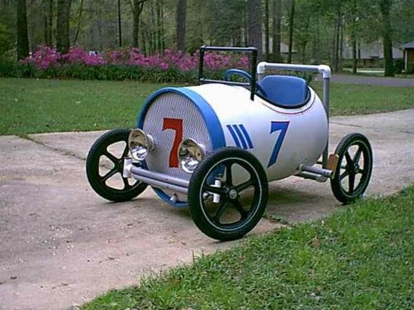 Super Cool Pedal Powered PVC Car