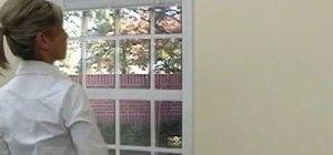 Install inside mount horizontal wood blinds