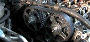 Remove and replace the timing belt on a 1997 Mazda 626