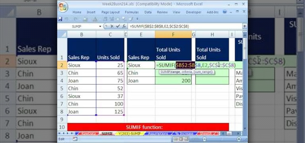 how to use microsoft excel 2003