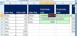 Use conditional summing in Microsoft Excel