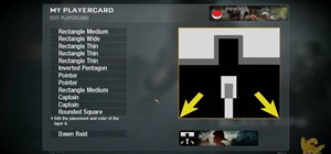 Draw a Connection Interrupted playercard emblem in the Black Ops emblem editor