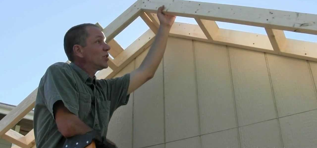 How To Build A Shed Part 9 Building Amp Installing Gable