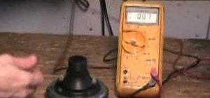 Use an ohm meter to check a horn diaphram