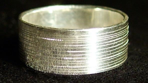 Wedding Ring Inscribed with Voice Recording