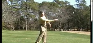 Start the golf backswing and downswing