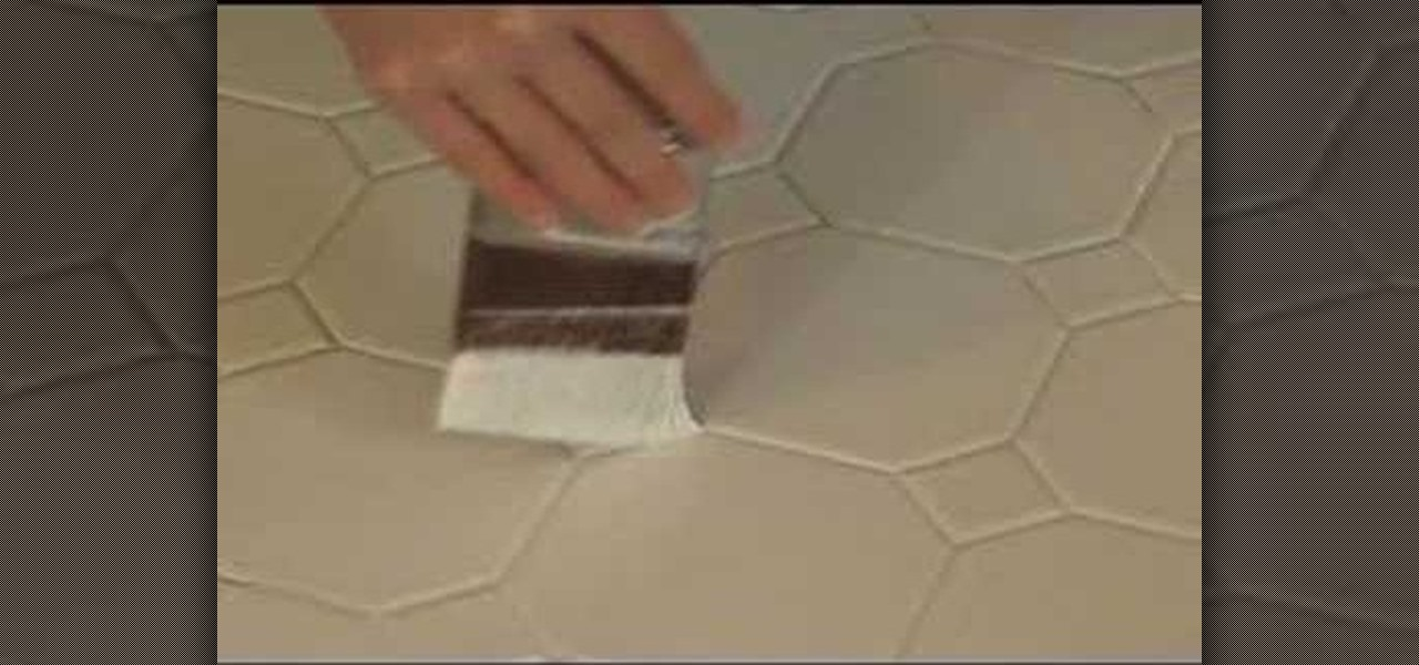 How to paint ceramic tile interior design wonderhowto for How to paint tiles bathroom