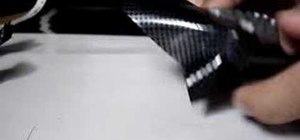 Apply carbon fiber vinyl