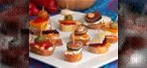 Make Spanish-style pinchos (spikes) on skewers with shrimp and veggies