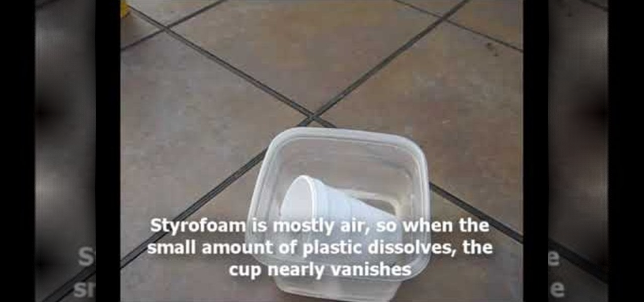 How to Dissolve a styrofoam cup in acetone « Science