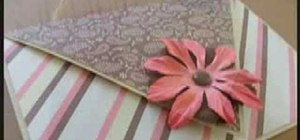 Make a heart shaped card that fold into an envelope