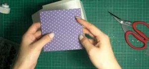 Create a box to hold a mini album or small cards