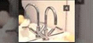 Clean a bathroom sink