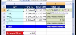 Display time over or under a hurdle in Microsoft Excel