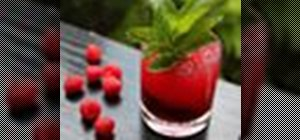 Make a delicious Raspberry Summer Crush cocktail with vodka