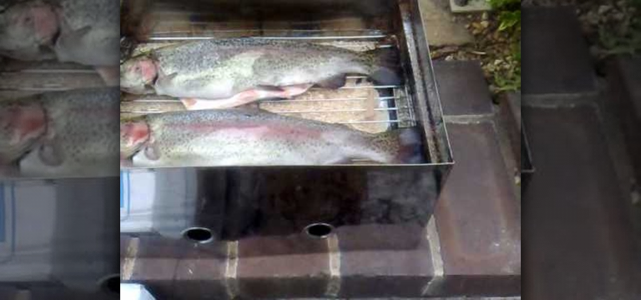 How to smoke trout fish in a fish smoker fish wonderhowto for How to smoke fish in a smoker