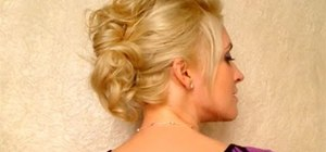 Create a messy autumn faux hawk with a back poof