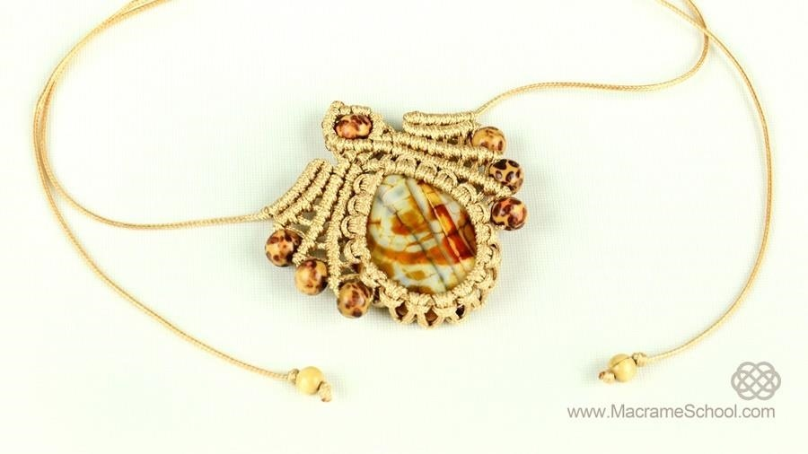 DIY Macrame Pendant with Gemstone