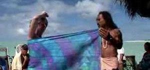 Tie a pareu or sarong