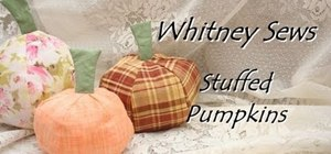 Sew stuffed pumpkins as an autumn decoration