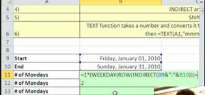 Count Mondays between 2 dates in Excel