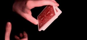 Perform the swing cut card trick