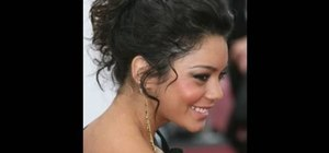 Get a messy up-do inspired by Vanessa Hudgens