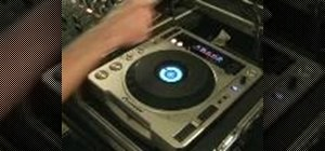 Create a buzzy sound effect on the pioneer CDJ-800