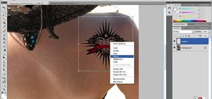 Apply digital tattoos using Photoshop