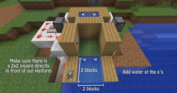 how to build a boat that moves in minecraft