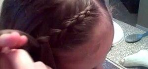 Do a reverse French braid like Lauren Conrad