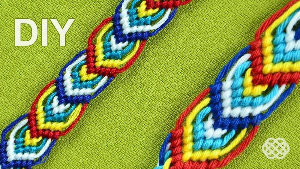 How to Macrame Leaves for a Friendship Bracelet (Nice on Both Sides)