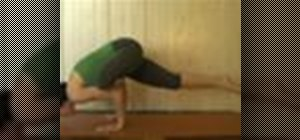 Do a yoga flying crow pose arm balance