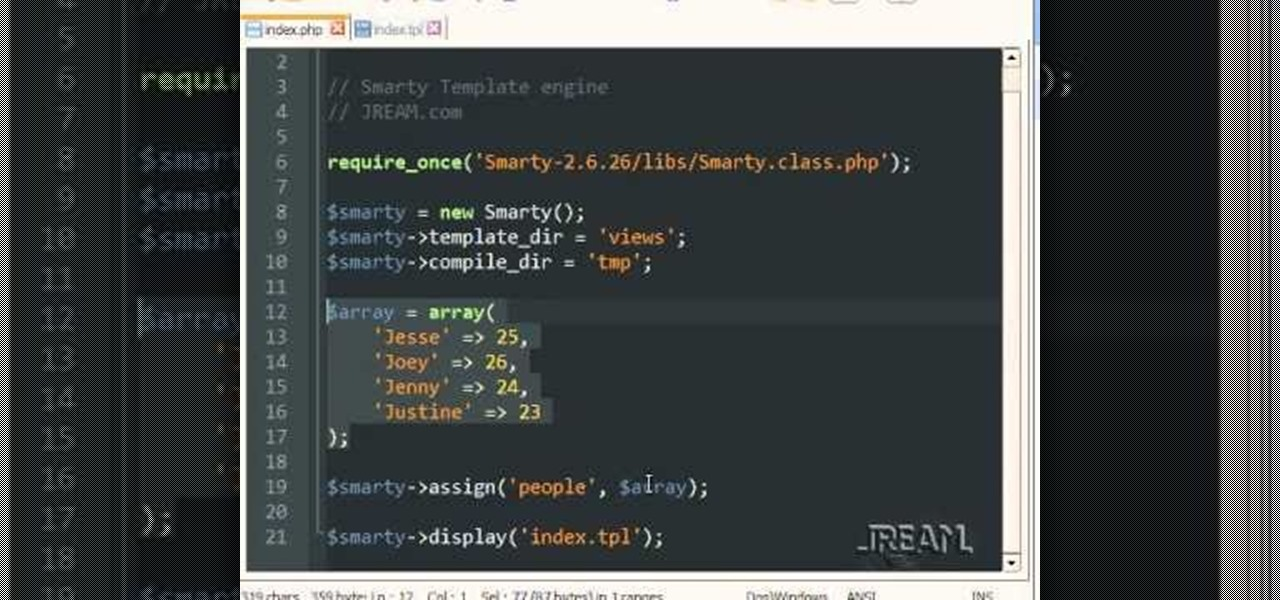 How to Use the Smarty Template Engine with PHP programming « PHP ...