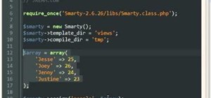Use the Smarty Template Engine with PHP programming