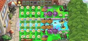Get easy money in the last stand minigame in Plants vs. Zombies