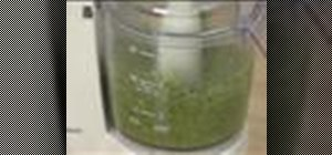 Make traditional Italian pesto