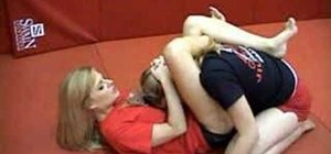 Do the rubber guard triangle choke in MMA