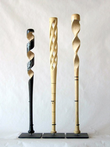 Beautifully Carved Pencils and Baseball Bats