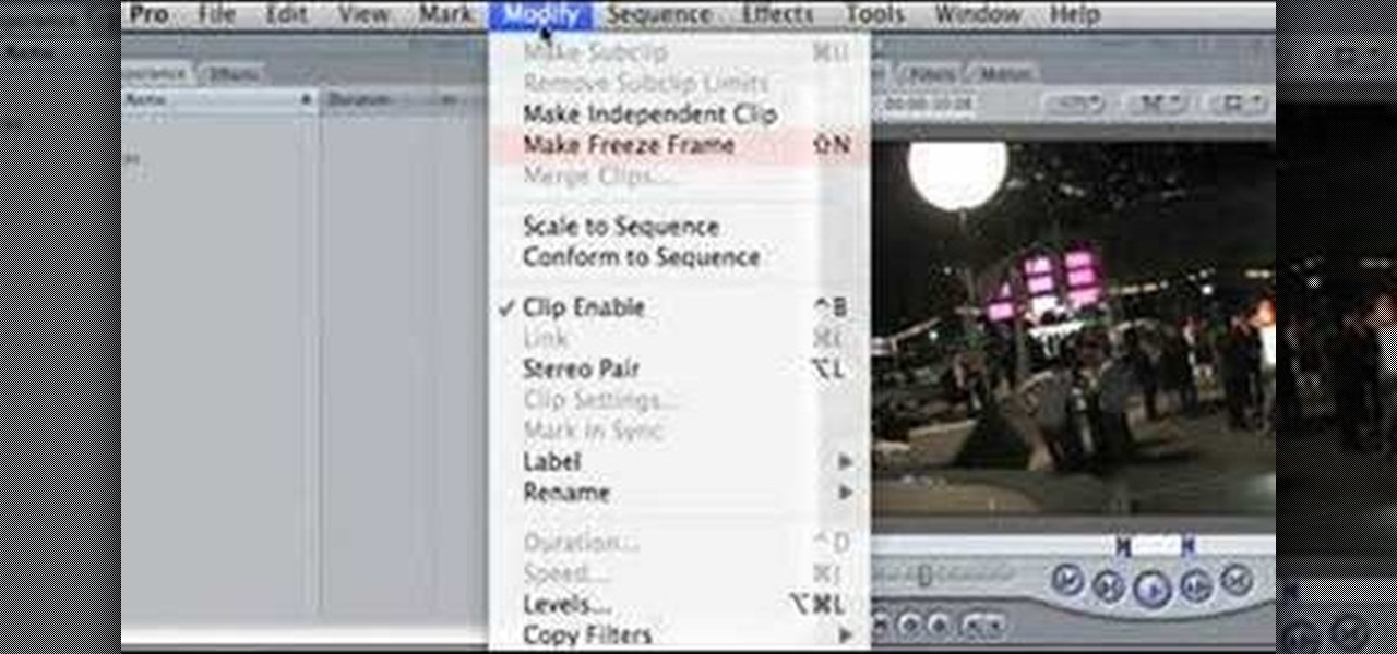 How to Create a freeze frame effect in Final Cut Pro « Final Cut ...